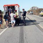 Colisão de trânsito é registrada em Quixadá, e vítima e socorrido com escoriações por todo o corpo