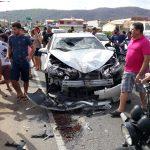 Três pessoas ficam feridas em um grave acidente de trânsito na CE-060 em Quixeramobim