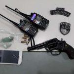 Força Tática frustra ação criminosa no bairro Amauri, apreende arma de fogo e recupera veículo roubado