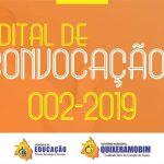 A Secretária de Educação, Ciência, Tecnologia e Inovação torna público o Edital de Convocação nº 02/2019,