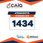 O Centro de Atenção Integrado de Quixeramobim – CAIQ, divulgou balanço de atendimentos realizados no mês de fevereiro de 2019.