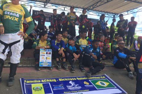 Equipe de bicicross de Quixeramobim, participou da abertura do Campeonato Nordeste Brasil na cidade de Itaberaba Bahia