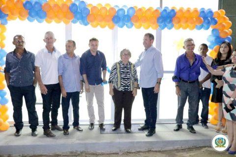 O Prefeito Clébio Pavone inaugura Unidade de Saúde de Lagoa Cercada zona rural de Quixeramobim