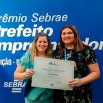 A Chefe de Gabinete Guida Pimenta esteve em Fortaleza participando da solenidade da X Edição do Prêmio Sebrae