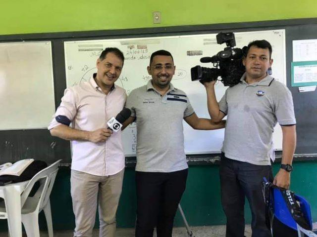 Programa Encontro com Fátima Bernardes grava com professor da cidade de Quixeramobim