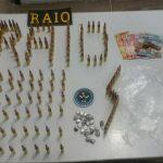 Após denúncia, Raio apreende mais de cem munições de fuzil em residência em Fortaleza