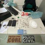 Trio suspeito de tráfico de drogas em Aquiraz é preso pela Polícia Civil