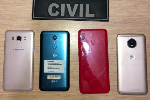 Policia Civil de Quixeramobim recupera mais quatro aparelhos celulares