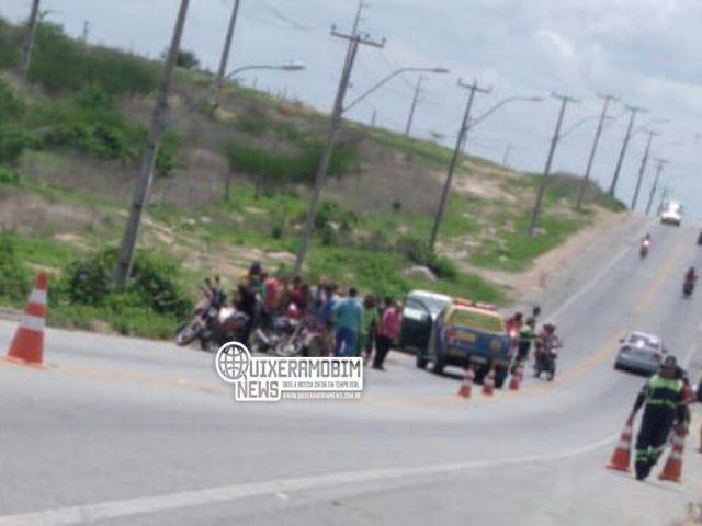 Acidente de trânsito envolvendo moto e bicicleta deixa vítima fatal na CE 371 em Morada Nova