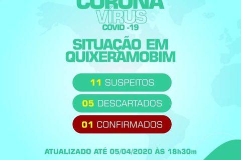 Secretaria de Saúde de Quixeramobim confirma primeiro caso de coronavírus no município