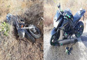 Colisão de motocicletas entre Quixadá e Choró deixa uma pessoa gravemente ferida