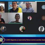"""Sejuvi realiza live com tema: """"Esporte e atividade física como saúde mental"""""""